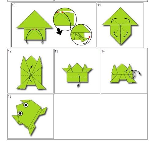 its aida4eva cara membuat origami katak yang boleh melompat