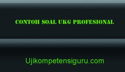 Contoh Soal UKG Profesional SD, SDLB, TK, SMP, SMA, dan SMK