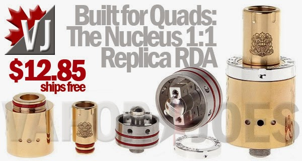 Built for Quad Coils- The Nucleus 1:1 Replica Rebuildable Atomizer