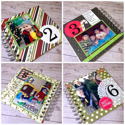 SRM Stickers Blog - December Documented Album by Christine - #decemberdaily #christmas #minialbum #stickers #doilies #punchedpieces