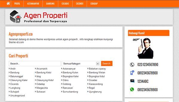 Download Template Agen Properti Theme