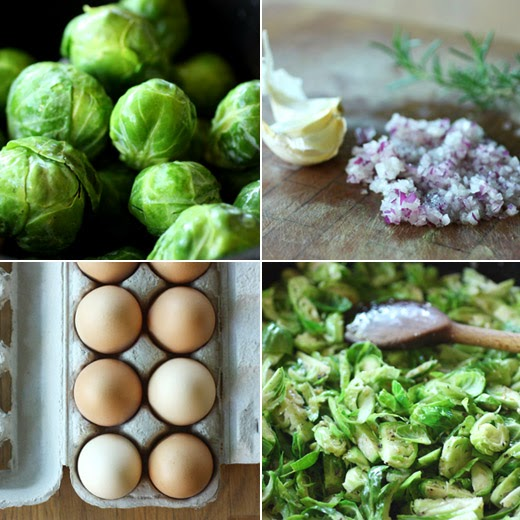 Brussels Sprouts Hash With Fried Sage And Soft Cooked Eggs Recipe ...