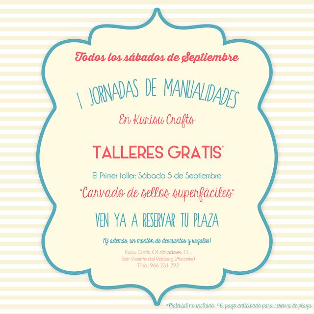 Taller gratis de manualidades en Alicante
