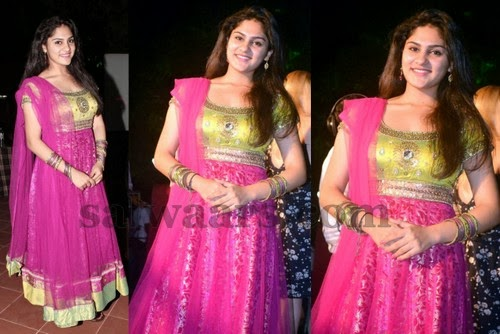 Heroine in Pink Long Churidar