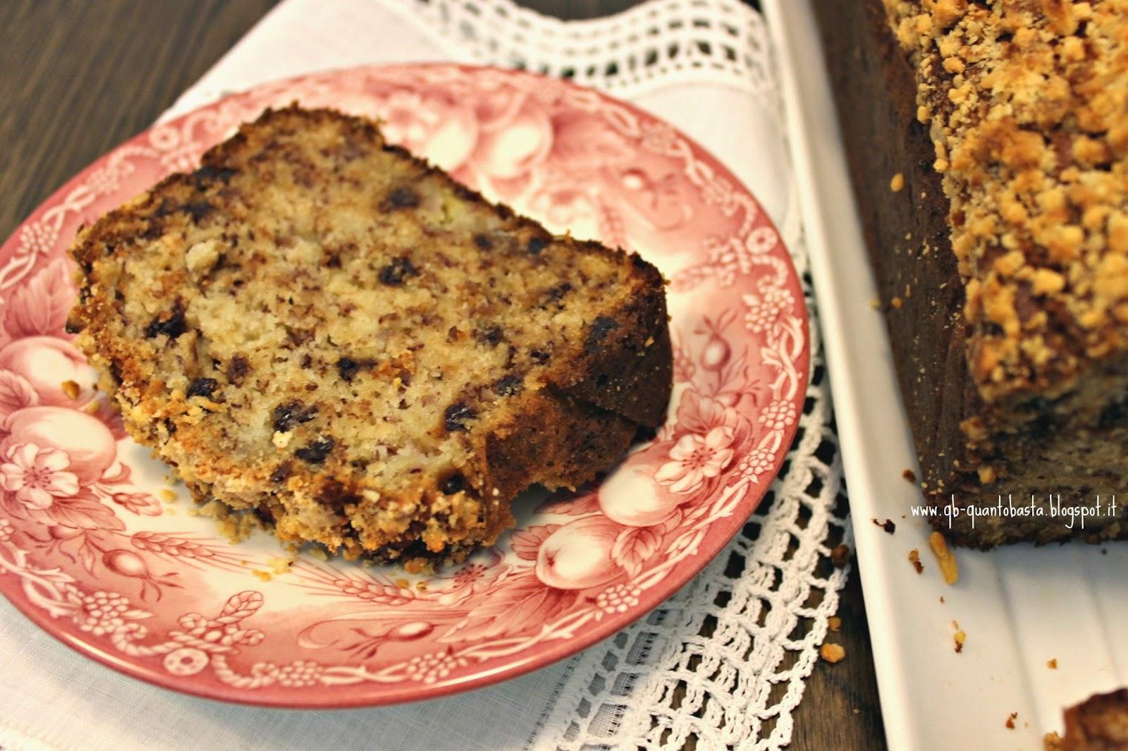Q.b.-Quanto Basta.: Banana Bread con nocciole e cioccolato