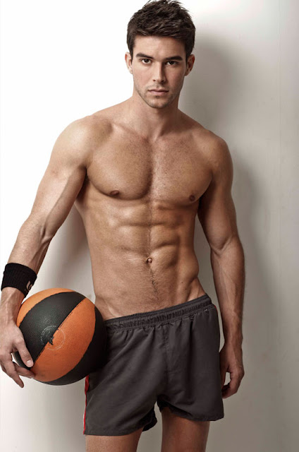 bernardo velasco shirtless with basketball