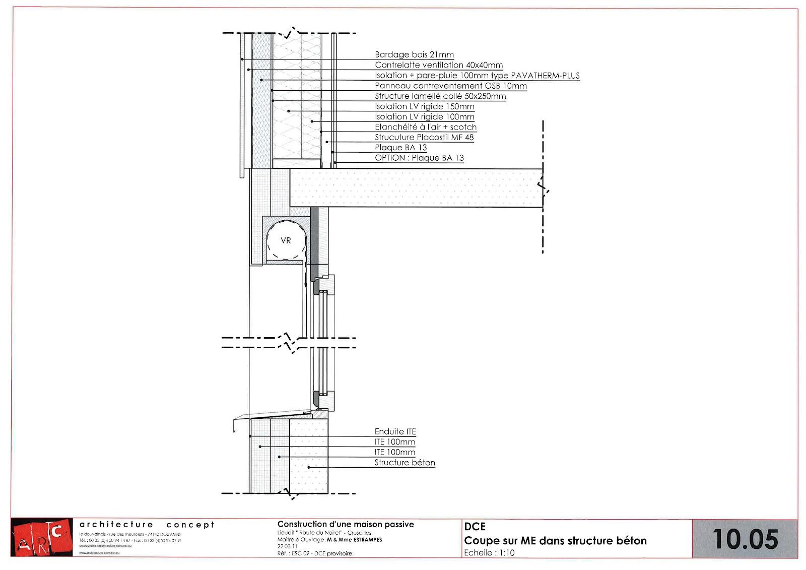 Construction d 39 une maison passive minergie p cruseilles for Maconnerie fenetre