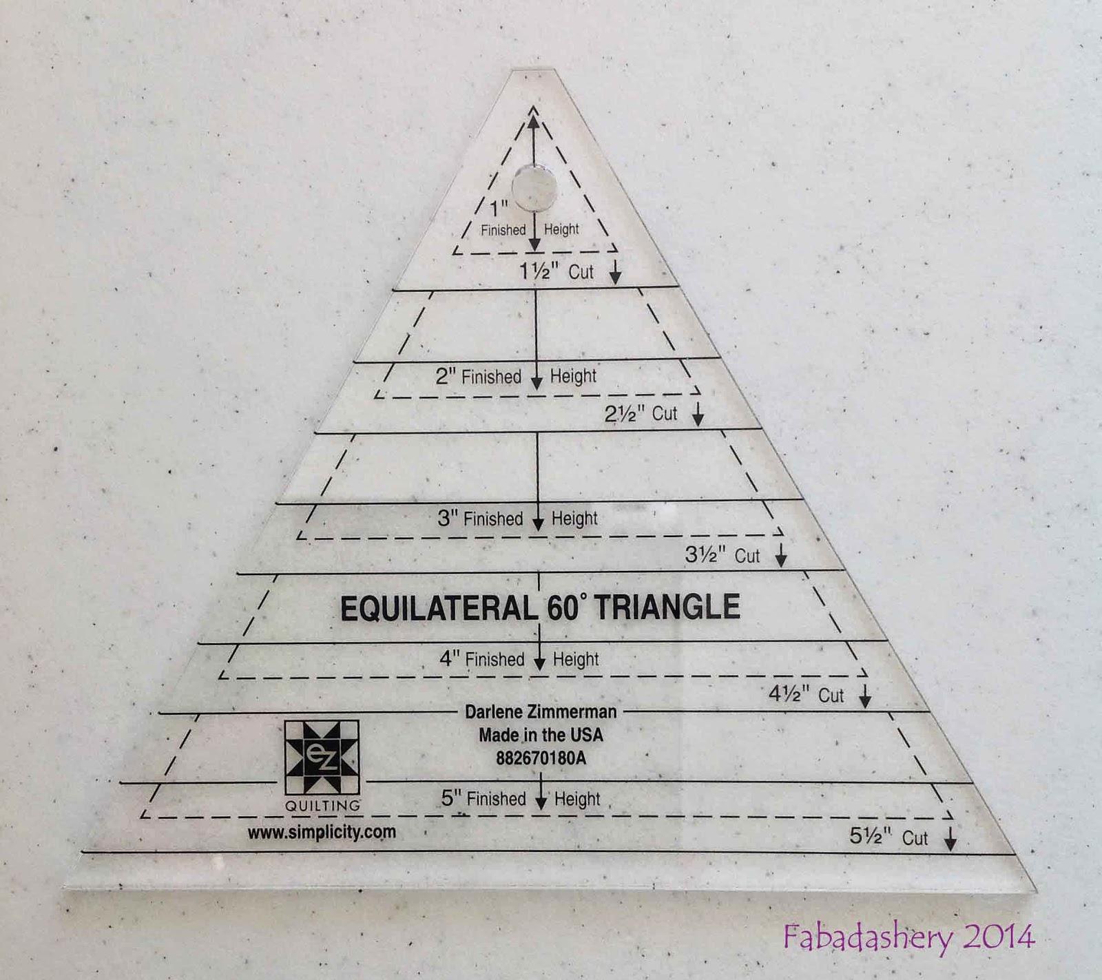 EZ Quilting 60 degree Triangle designed by Darlene Zimmerman
