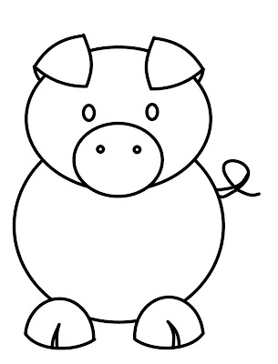 How to Draw Easy Cartoon Pig