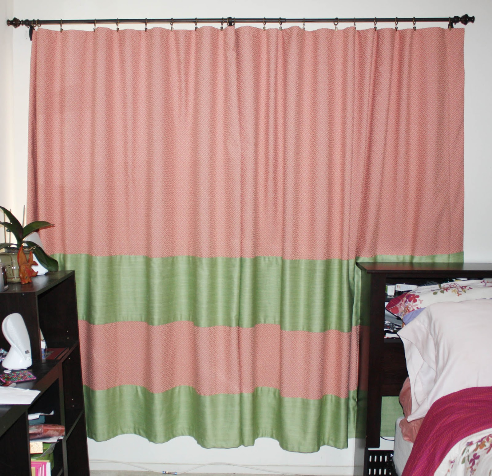 skinnyminhy 39 s adventures in food crafting land diy extra wide blackout curtain panels. Black Bedroom Furniture Sets. Home Design Ideas