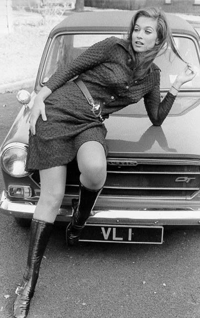 vintage everyday: Vintage Mini Skirts & Cars