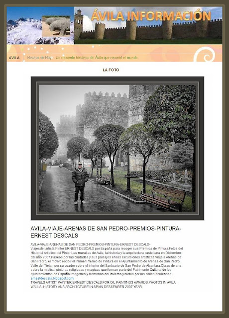 AVILA-INFORMACION-FOTOS-MURALLAS-VIAJES-PINTOR-ERNEST DESCALS