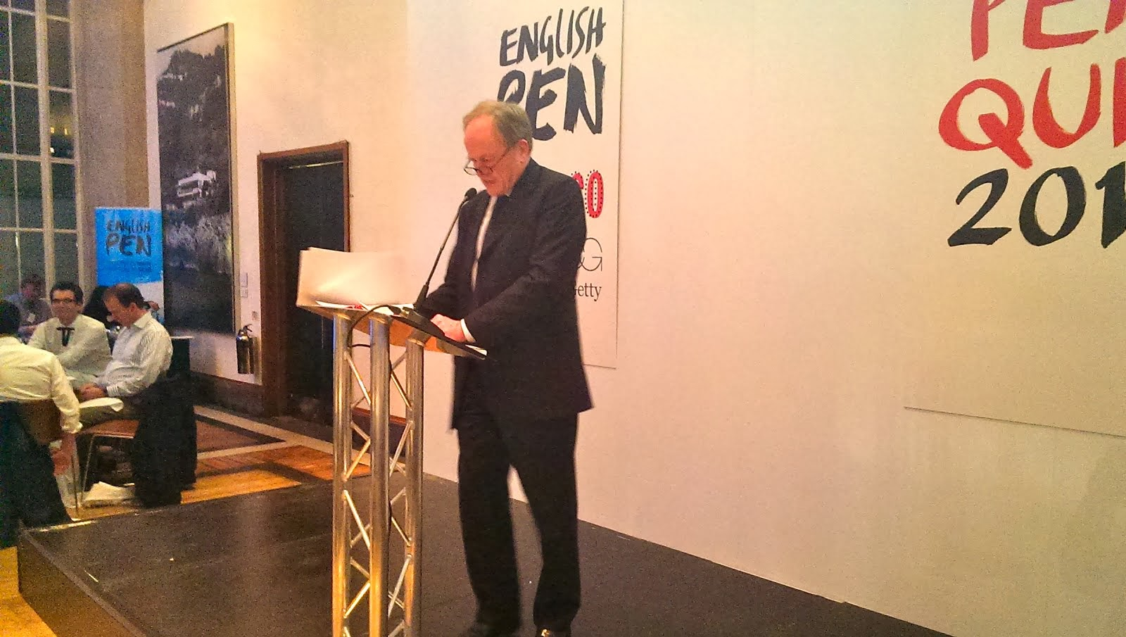 English PEN Quiz 2013 at RIBA with Clive Anderson