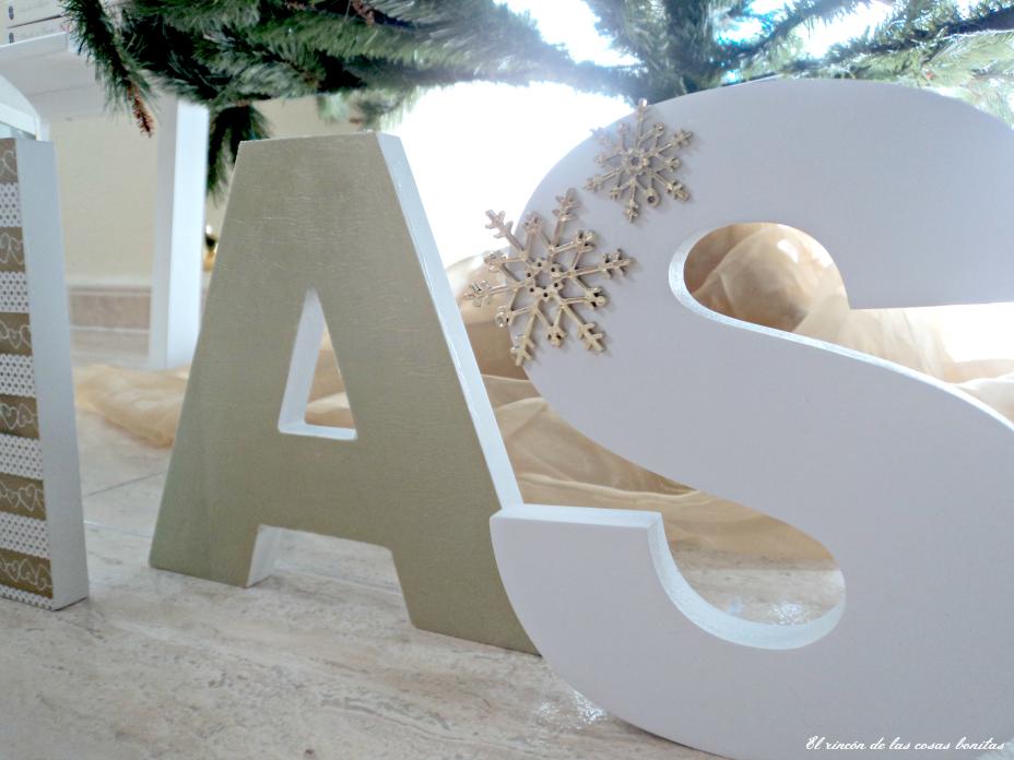 Letras de madera decoradas para navidad handbox craft - Letras home decoracion ...