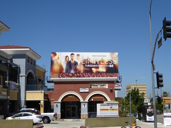 Limitless series launch billboard