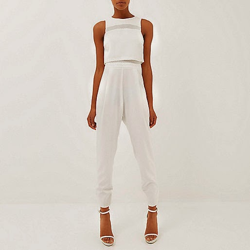river island white jumpsuit