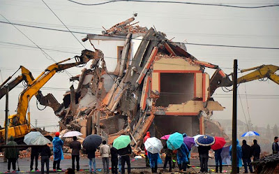 casa en demolición en china