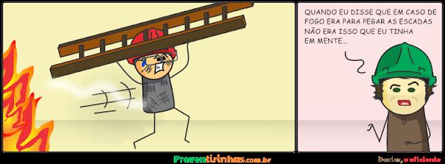 Preventirinhas - Dexter em: Em caso de fogo pegue as escadas, mas não leve elas com você!
