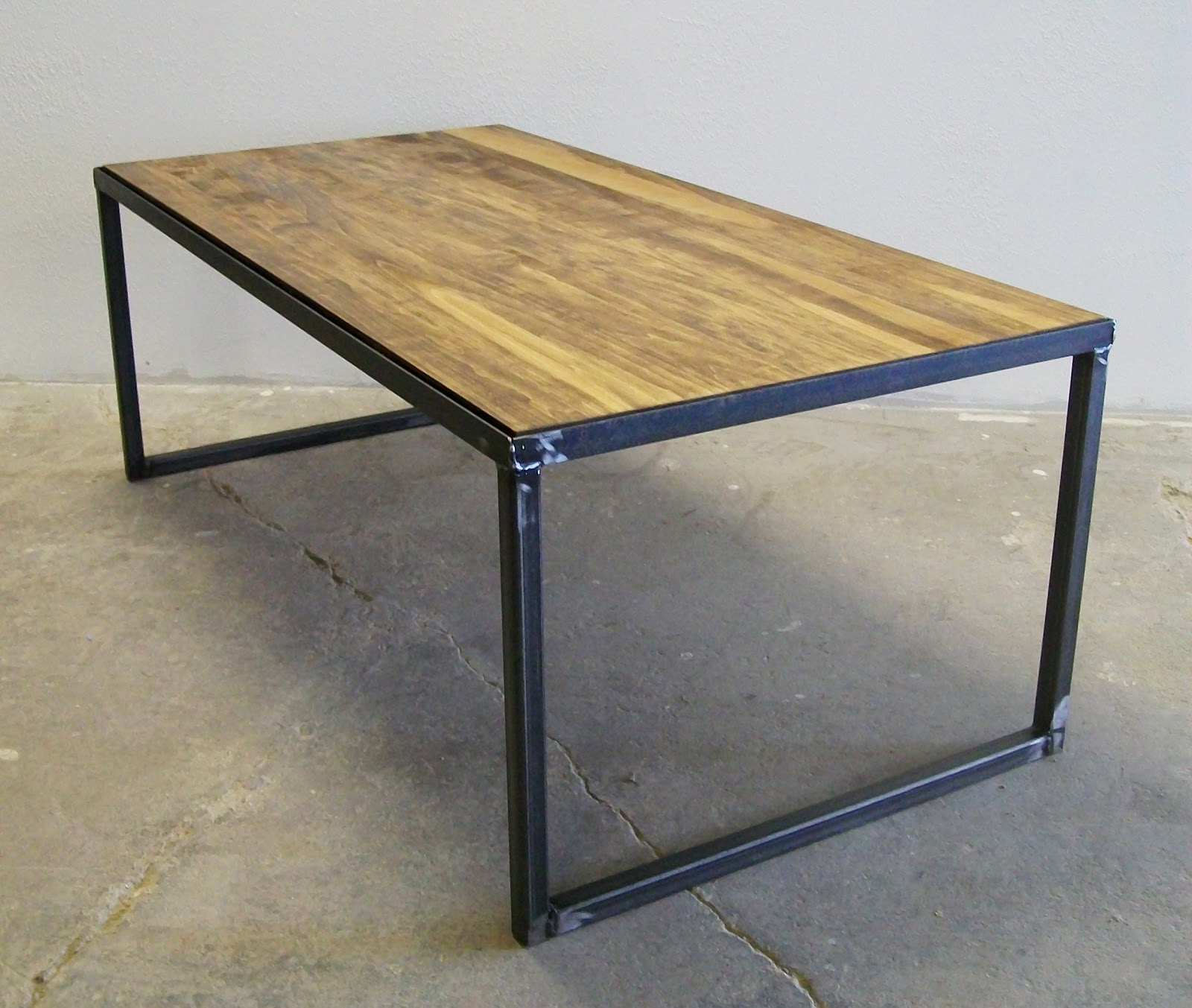 Amalgam steel coffee table large lucah designs for Steel table design