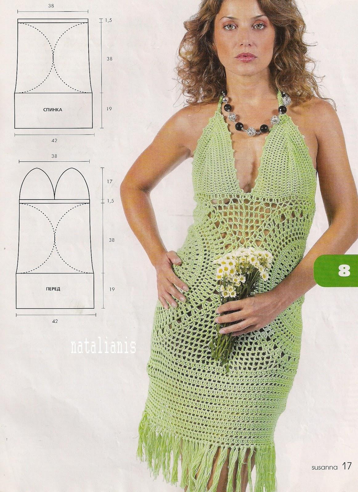 Вязание крючком пляжные платья крючок