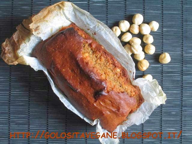 Dolci, farina semi integrale, forno, latte di soia, lievitati, lievito, metodo Tan Zhong, milk roux, nocciole, plumcake, ricette vegan, yogurt soia, zucchero dulcita,