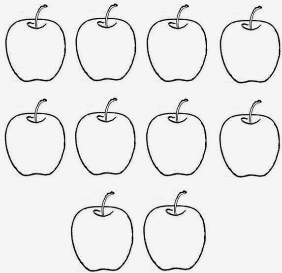 Belajar mewarnai gambar buah apel untuk anak