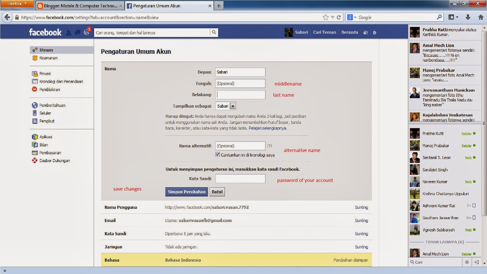 how to delete names on facebook search