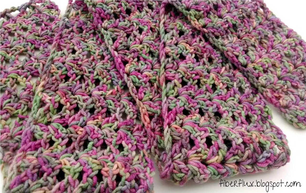 Crochet Stitches Variegated Yarn : Fiber Flux: Free Crochet Pattern...Tulip Tree Scarf!