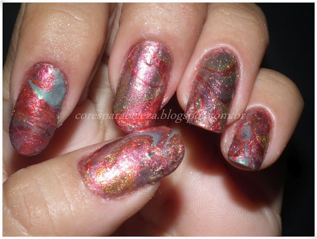 cores para beleza Water Marbled