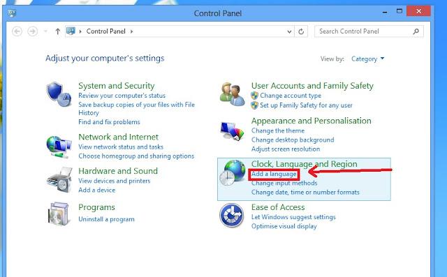 Windows 8 เปลี่ยนภาษา
