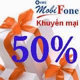 Tặng 50% thẻ nạp từ ngày 13/01 - 14/01/2015 của Mobifone