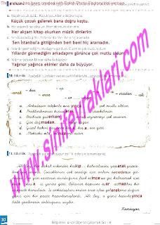 8.Sinif Turkce Enderun Yayinlari Calisma Kitabi Cevaplari Sayfa 30