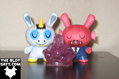Buddha Fett Resin Figure by Killer Bootlegs and Kidrobot Dunnys by Amanda Visell