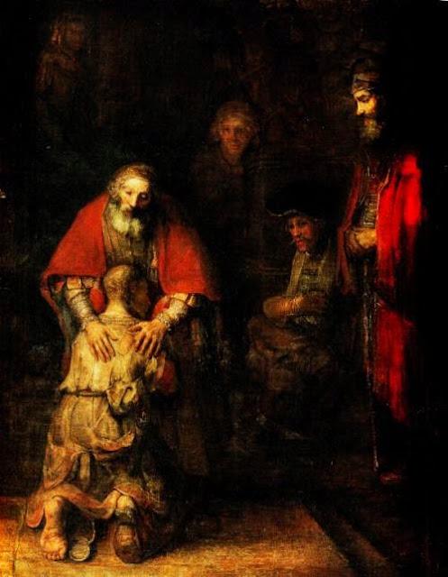 Le retour du fils prodigue de Rembrandt, vers 1668