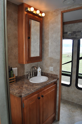 Rv bathroom our traveling tribe Rv with 2 bedrooms 2 bathrooms