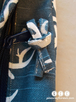 Fabric Zipper Pull Tutorial by Gina's Craft Corner