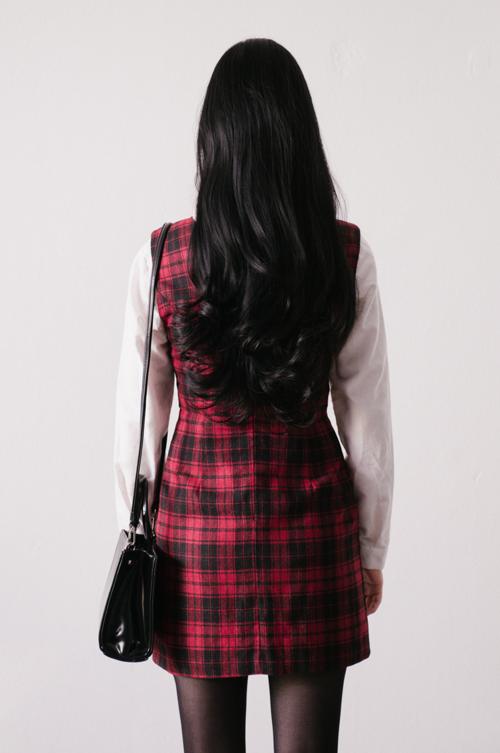 Sleeveless Plaid Mini Dress