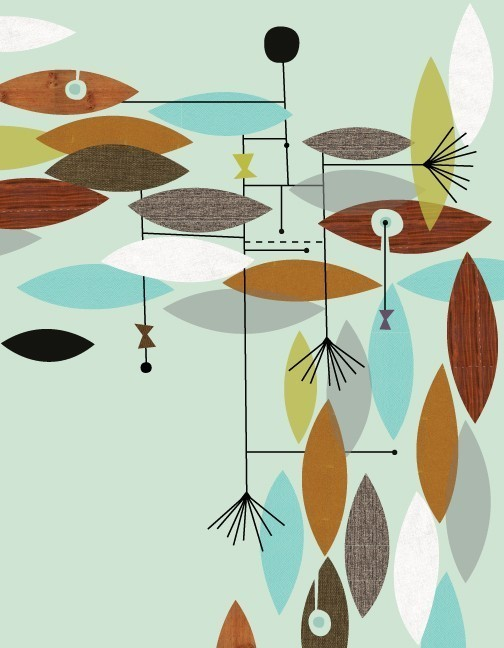 Just a smidge july 2011 - Mid century modern patterns ...