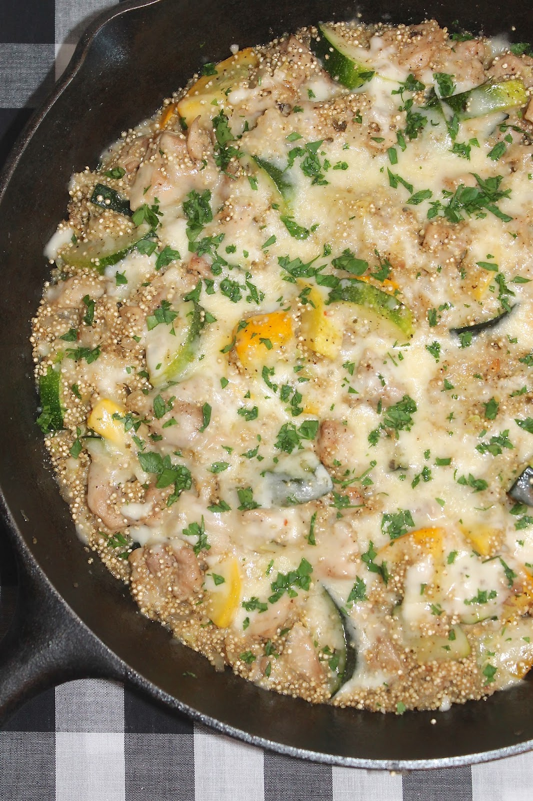 Savory Moments: Skillet chicken and summer squash quinoa