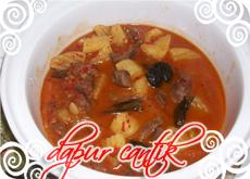Gambar Masakan Asam Padeh Daging Sapi Dapur Cantik