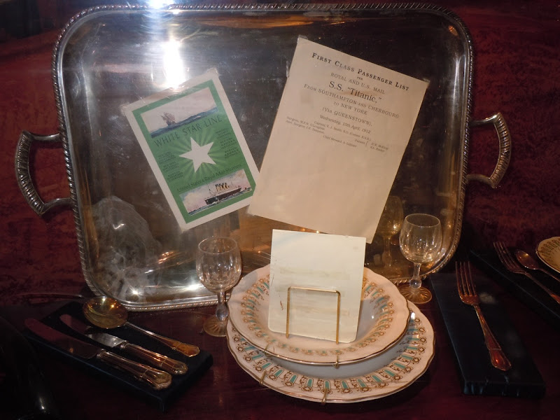 Titanic dining room movie props