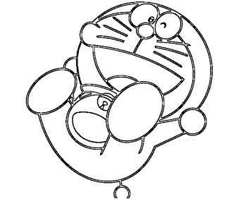#8 Doraemon Coloring Page