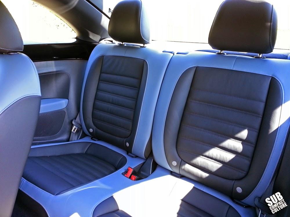 2014 VW Beetle R-Line Back Seat