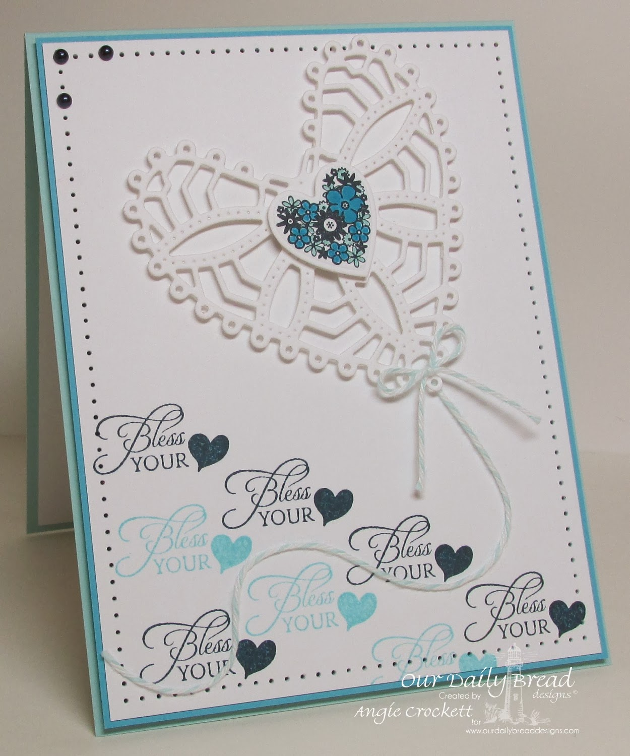 ODBD Clean Heart, Bless Your Heart, ODBD Custom Ornate Hearts Die Set, Card Designer Angie Crockett