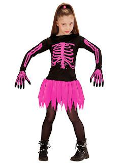 Skeletpige kostume