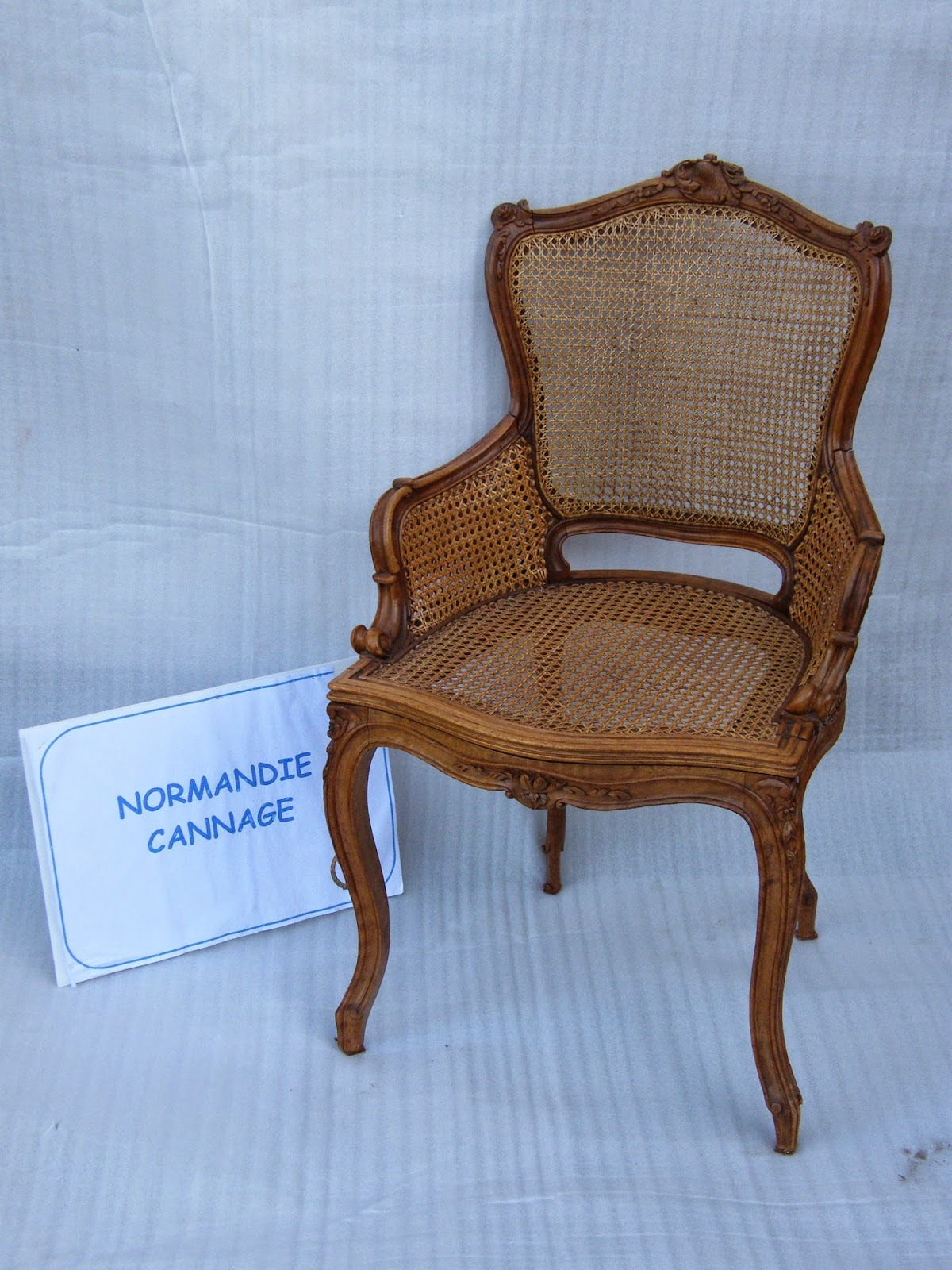 Normandie cannage chaise et fauteuil style louis xv cann s - Chaises louis xv cannees ...