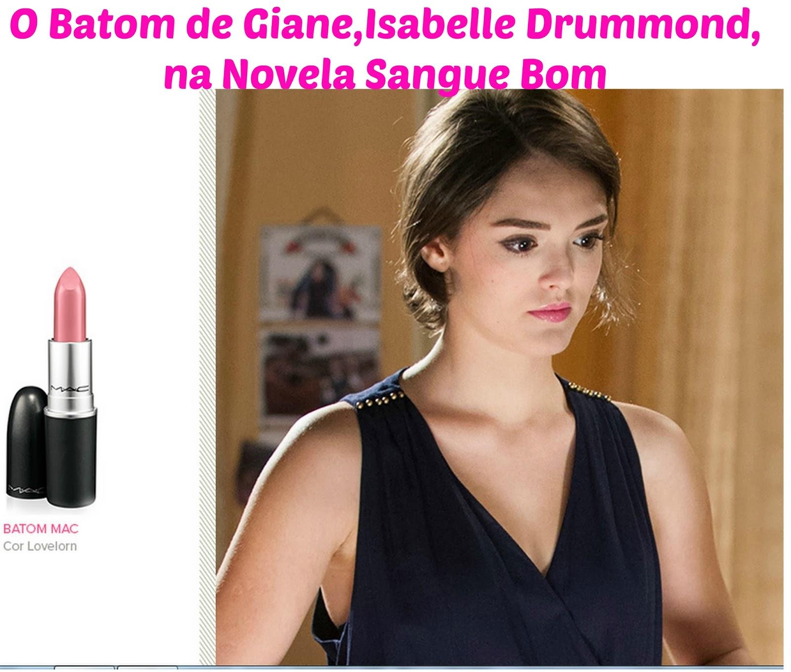 Perfume Kouros Bom Yahoo: O Batom De Giane,Isabelle Drummond, Na Novela Sangue Bom