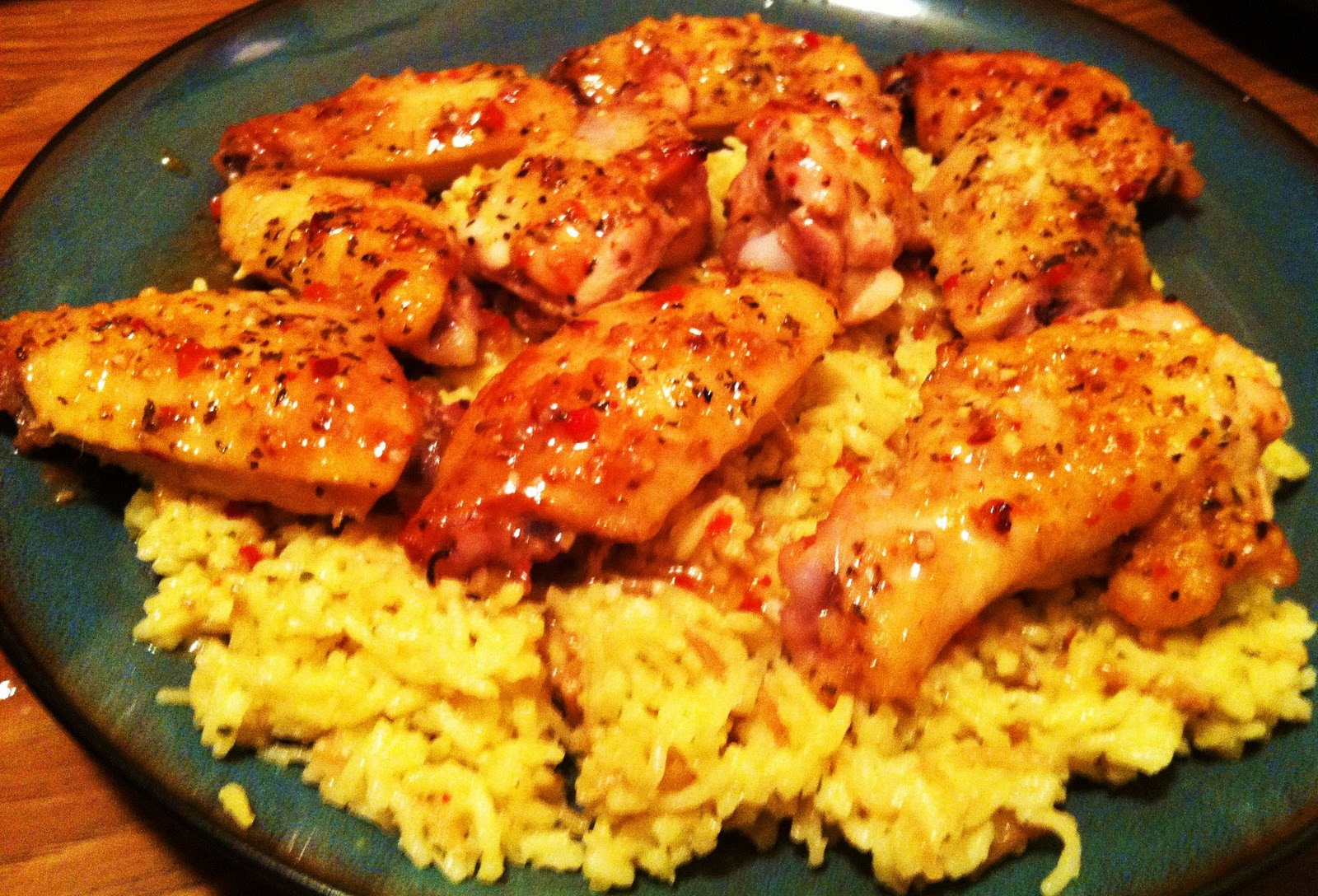 EATS: Italian Baked Chicken Wings and Rice