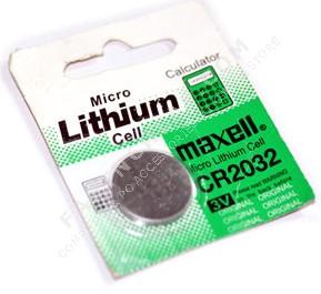 Bentuk baterai CMOS CPU merek MAXELL