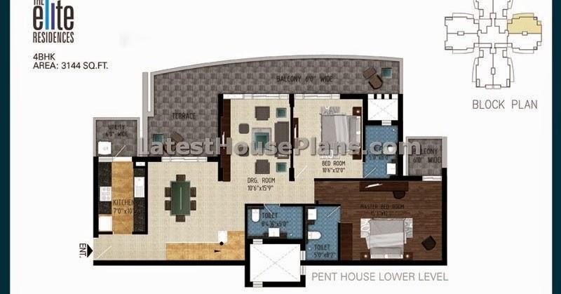 3150 Sft 4 Bhk Duplex Penthouse Floor Plans In Mumbai